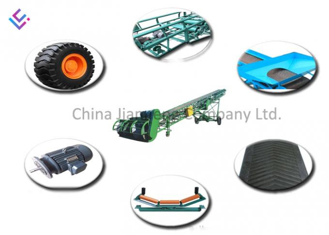 Economic And Reliable Inclined Belt Conveyor Systems Conveying Capacity 50t/H 0
