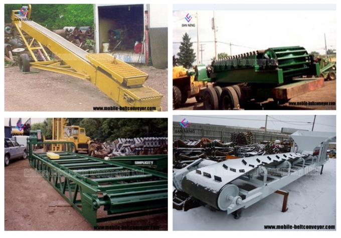 Flat And Inclined Mobile Conveyor Belt System For Truck Loading And