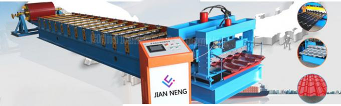 Glazed Tile Corrugated Steel Roll Forming Machine Roofing Sheet MachineWith 18 Forming Stations