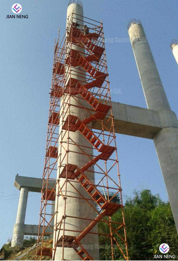 Z Shape Bridge Scaffold Stair Tower Combination Ladders With High Strength