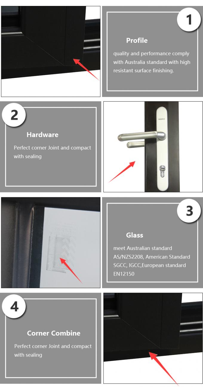 Anti Theft Awning Aluminium Windows And Doors With Stainless Steel Security Mesh Burglar Proof