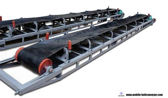 China Flat And Inclined Mobile Conveyor Belt System For Truck Loading And Unloading supplier