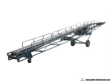 China Movable Rubber Telescopic Belt Conveyor For 20ft 40ft Container Loading Unloading supplier