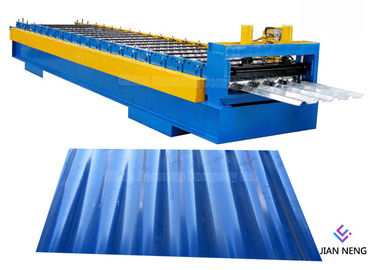 China Galvanized Floor Deck Roll Forming Machine For Industrial Building supplier
