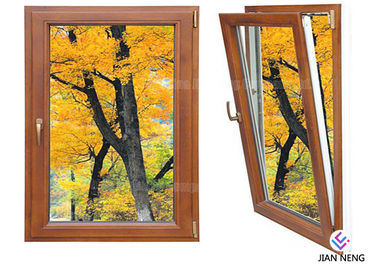 China Inward Tilt Turn Aluminium Windows And Doors Wooden Color With Powder Coating supplier