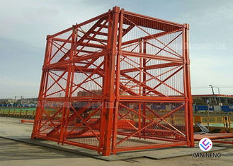 China High Altitude Safety Scaffolding Steel Ladder Cage 100m Height Maximum supplier