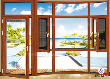 China Heat Insulation 6063-T5 Aluminium Windows And Doors With Stainless Steel Security Mesh supplier