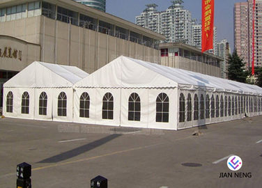 China Luxury Waterproof PVC Outdoor Canopy Tent , Large Event Tents With Aluminium Alloy Frame supplier
