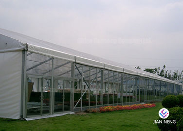 China White Alloy Outdoor Aluminum Frame Tent 10X15m 10X20m DIN 4102 B1 supplier
