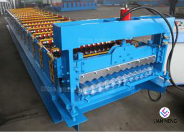 China Corrugated Color Steel Roofing Sheet Roll Forming Machine 8~12m/min supplier