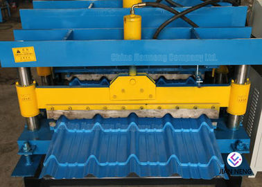 China Durable Roof Building Roll Forming Machine , Steel Colored Glazed Tile Making Machine supplier