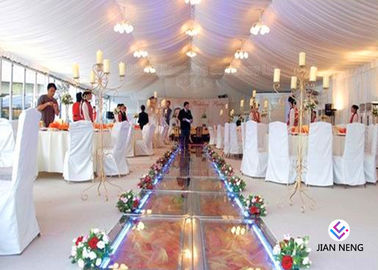 China Romantic Clear Span Wedding Event Marquee Tent With Sidewall Curtain supplier