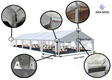 China Custom Outdoor PVC Waterproof Wedding Marriage Activity With Wind Load 100 ~120Km/H supplier