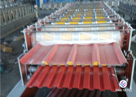 China Trapezoid Double / Two Layer Roll Forming Machine Steel Material For Roof Panel factory