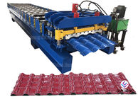 Good Quality Mobile Conveyor Belt System & Glazed Tile Corrugated Steel Roll Forming Machine Roofing Sheet MachineWith 18 Forming Stations on sale
