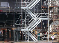 China Hot Dip Galvanized Kwikstage / K - Stage Cuplock Stair Tower With Safety Ladder factory