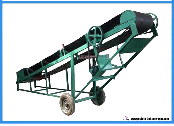 Heavy Duty Loading Belt Conveyor , Green Portable Conveyor Belt For