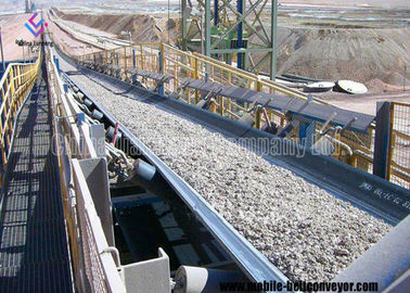 High Incline Truck Loading Unloading Conveyor , Mining Metallurgy Coal Industry Truck Loading Belt
