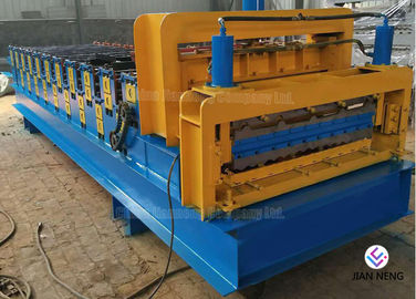China Hydraulic Powered Metal Roofing Machine Thickness 0.4 - 0.7mm For Wall Cladding factory