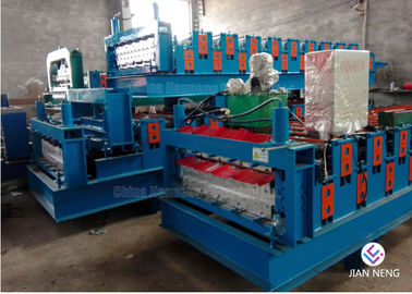 China Roof Tile Machine Glazed Tile Metal Roofing Machine / Metal Roll Forming Machine factory