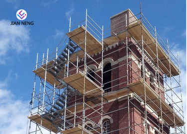 High Pier Construction Scaffold Stair Tower Convenient Disassemble And Assemble