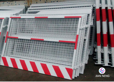 Custom Made Construction Safety Barricade, Temporary Guardrail Systems For Elevator Entrance